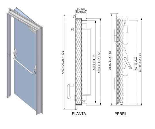 Documentation technique de portes coupe feu - Fiche technique porte coupe feu ...